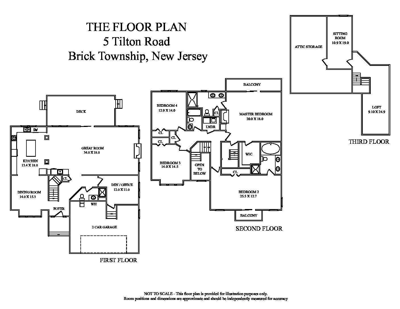 5 Tilton Road, Brick Township,Floor Plan