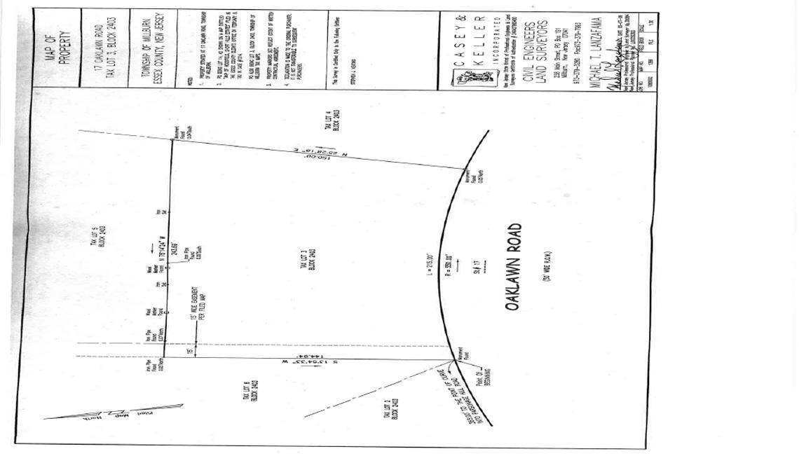 17 Oaklawn Road Property Survey